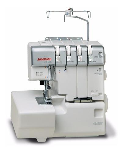 maquina de coser janome 1210dx   overlock 3y4 hilos rulote