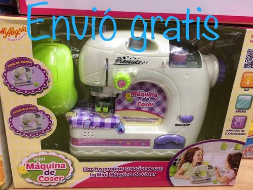 maquina de coser mi alegría azul pastel