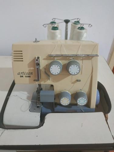 maquina de coser overlock artisan deluxe con mueble