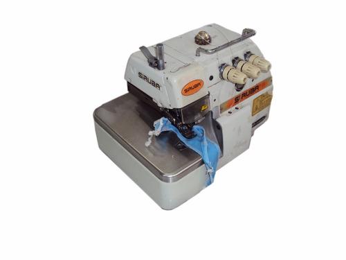 maquina de coser overlock de 3 hilos siruba linea f arieta