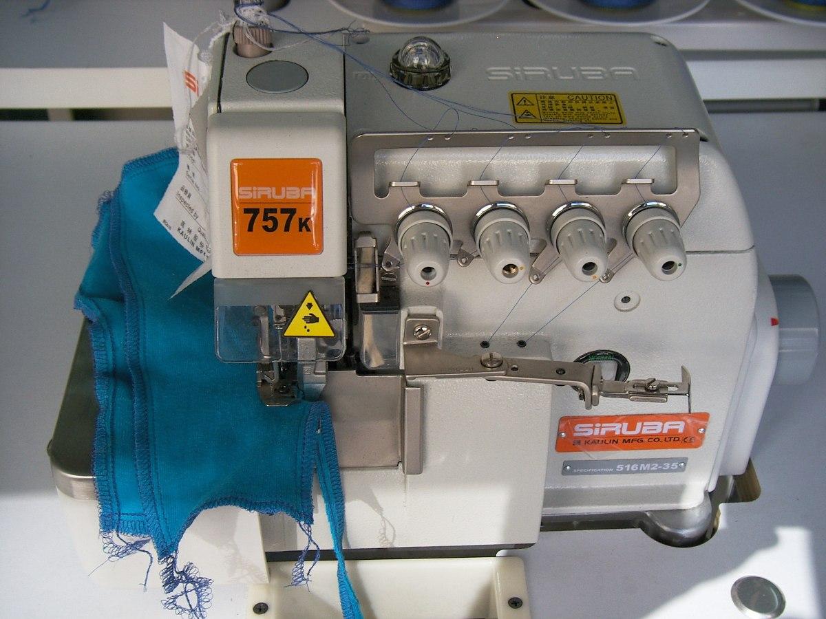 Maquina De Coser Overlock De 5 Hilos Industrial Siruba