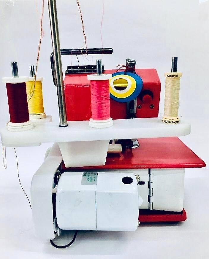 Maquina De Coser Overlock Familiar 4 Hilos Con Cuchillas