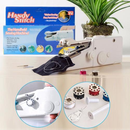 máquina de coser pequeña portátil de mano handy stitch pilas