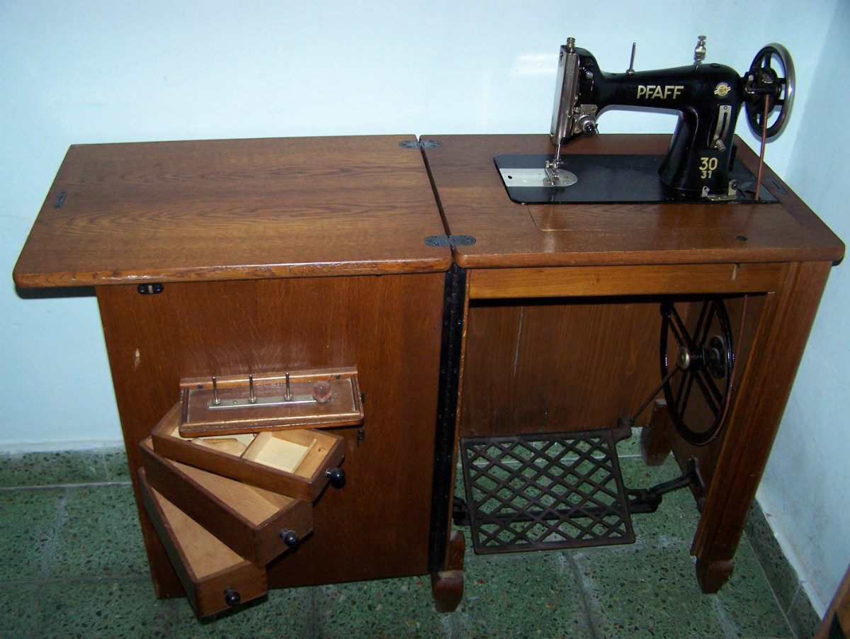 Mueble Maquina Coser Antigua Mueble Electrodom Sticos Antiguos  # Muebles Maquina De Coser