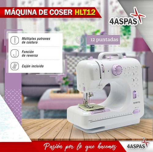 maquina de coser portatil mini electrica hlt 12 puntadas