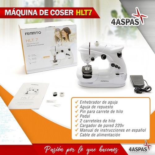 maquina de coser portatil mini electrica hlt 7 puntadas