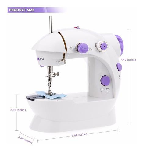 maquina de coser portátil mini sewing machine 4in1 eléctrica