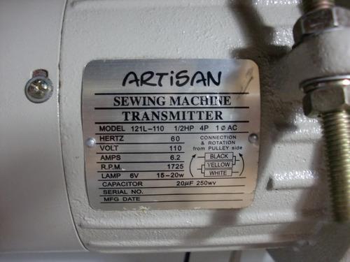 máquina de coser recta y zig-zag artisan 20u, de singer.