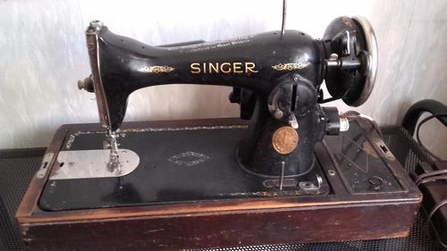 máquina de coser singer antigua eléctrica - muy buen estado
