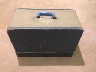 maquina de coser singer antigua en caja