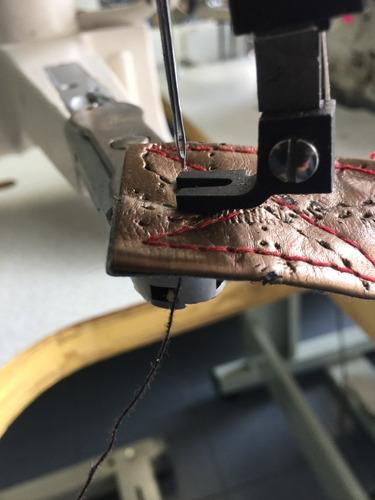 maquina de coser una aguja remendona tapicería vestiduras