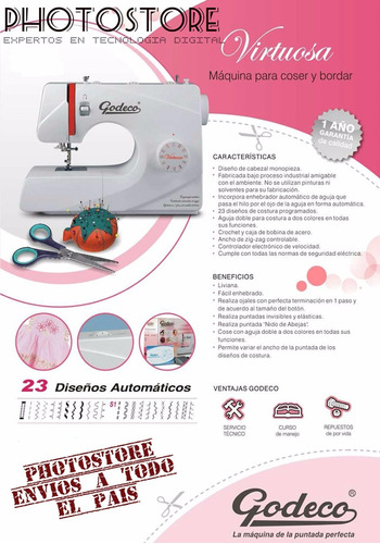 maquina de coser virtuosa godeco