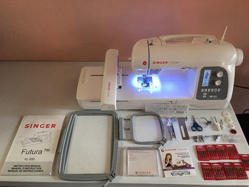 máquina de coser y de bordar singer futura xl550
