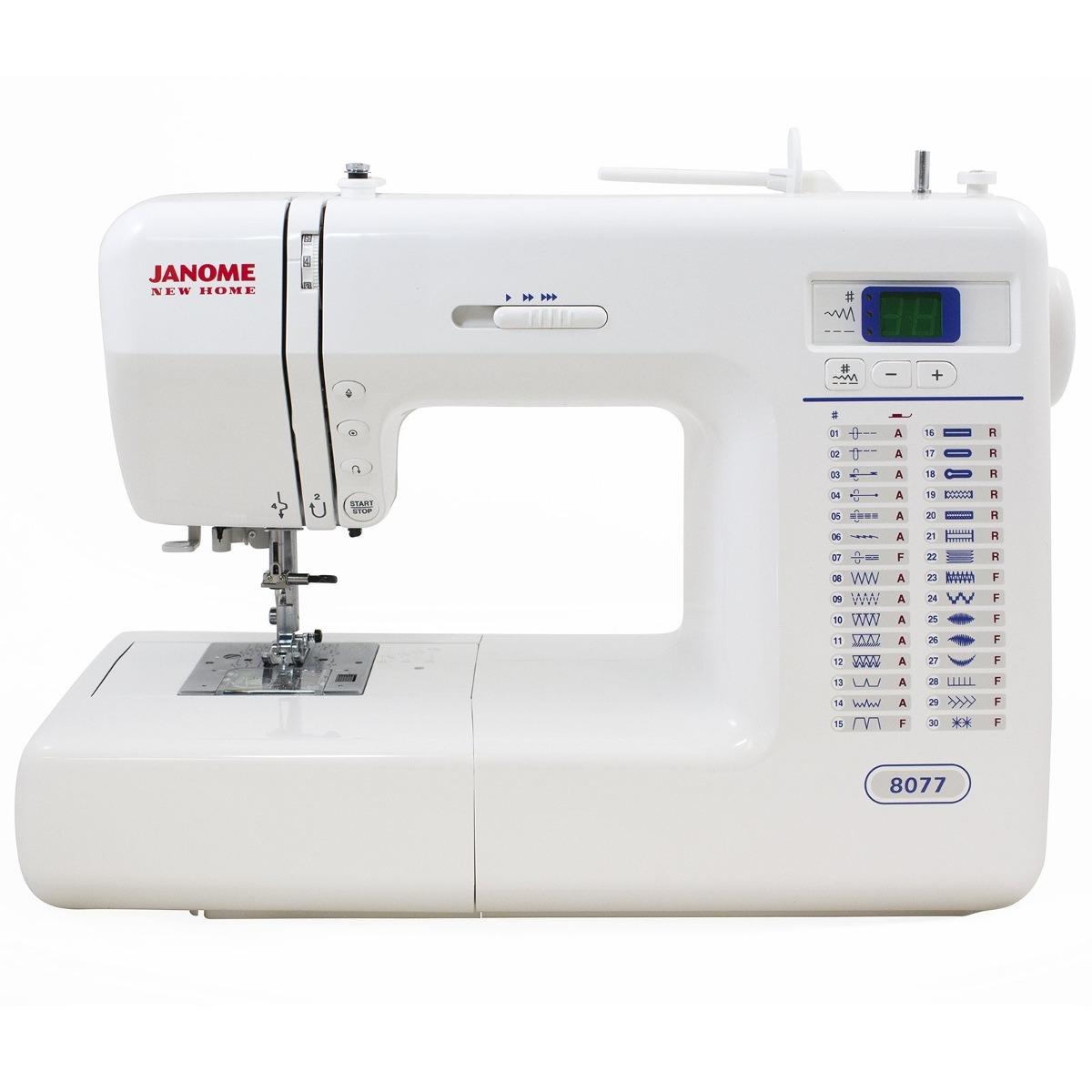 Máquina De Costura Computerizado Janome 8077 Con 30 Puntada ...