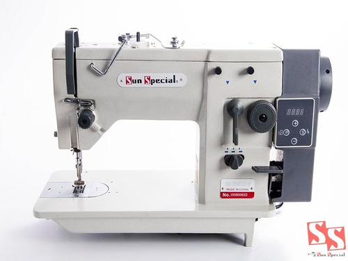 máquina de costura direct drive zig zag sun special semi-ind