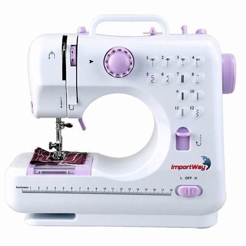 máquina de costura doméstica costura inversa portátil 12 pts