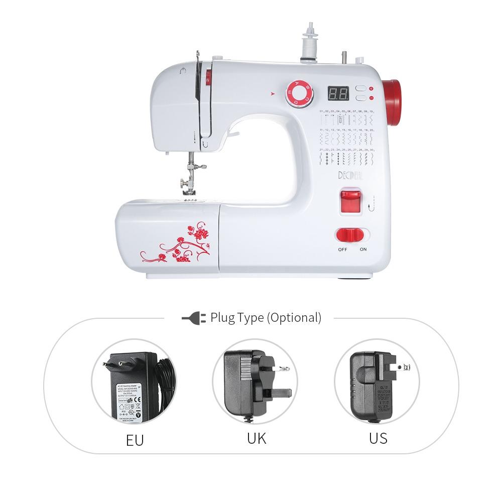 Máquina De Costura Eléctrico Multifuncional Decdeal Eléct ...