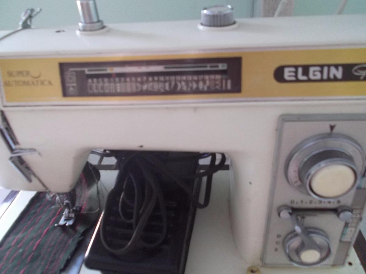 máquina de costura elgin genius super automática. Carregando zoom.