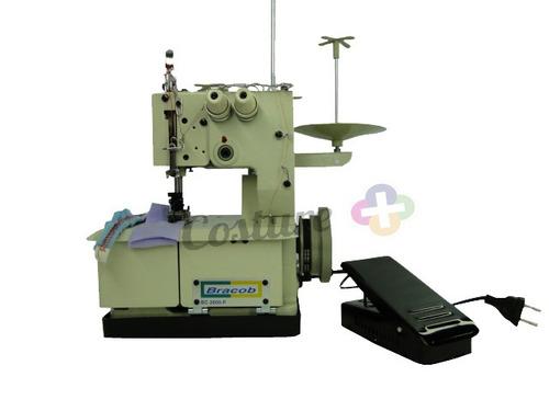 máquina de costura galoneira semi industrial bracob 2 ag 110