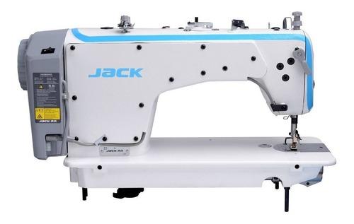 máquina de costura industrial jack f4 branca 110v