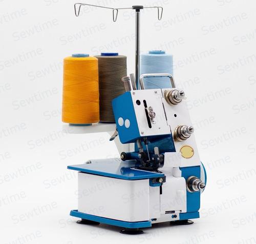 máquina de costura overlock portátil com motor