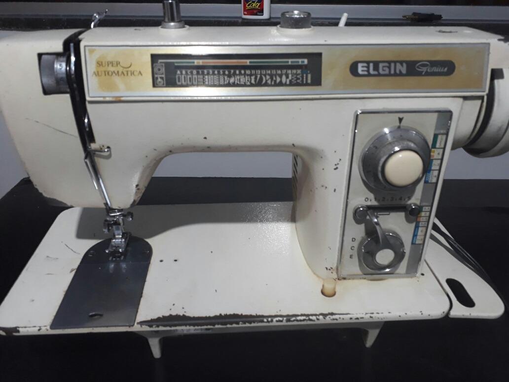 maquina de costura portatil elgin genius super automática. Carregando zoom.