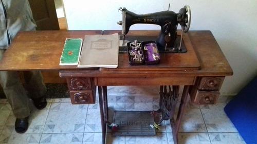 maquina de costura singer 1930 em funcionamento e c/ manual