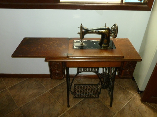 máquina de costura singer antiga modelo 1924