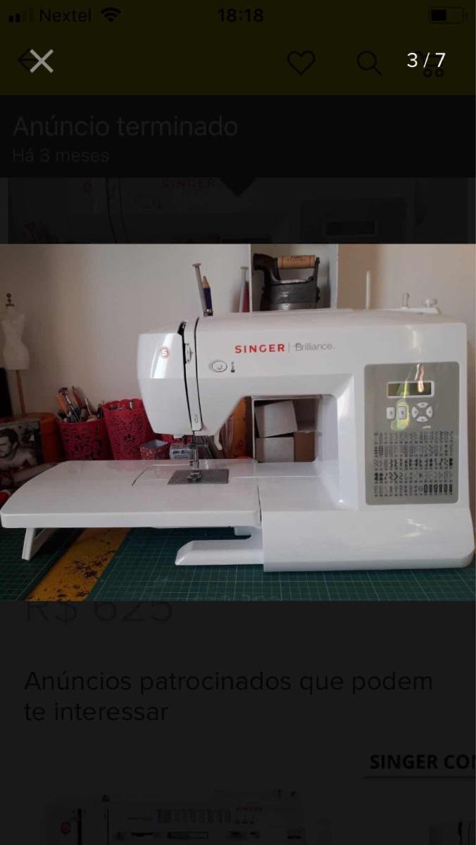 0cb793243 máquina de costura singer brilliance 6180. Carregando zoom.