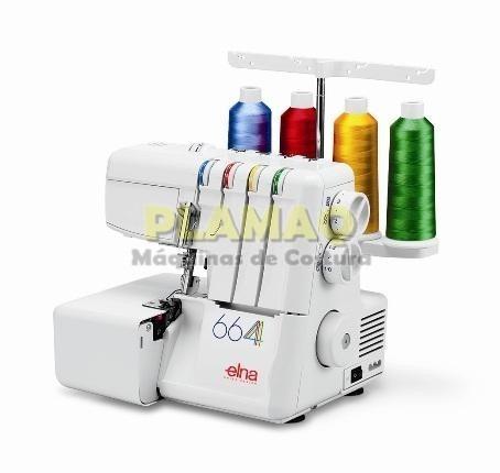 máquina de costura ultralock portátil overloque elna 664