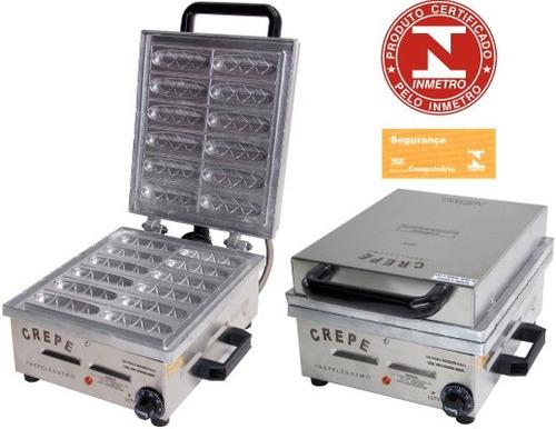 maquina de crepe suiço c/12 unid 220v