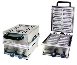 máquina de crepe suíço no palite 12 à gás ademaq