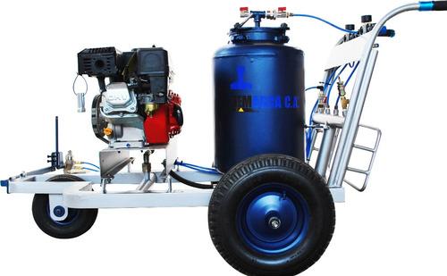 maquina de demarcación vial pintura termoplastica y trafico
