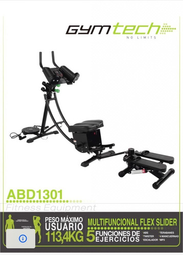 maquina de ejercicio abdominal flex slider