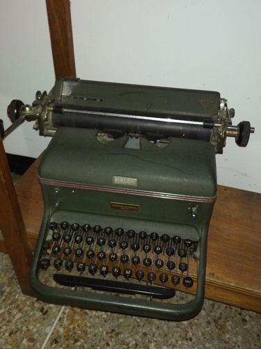 máquina de escribir antigua marca halda