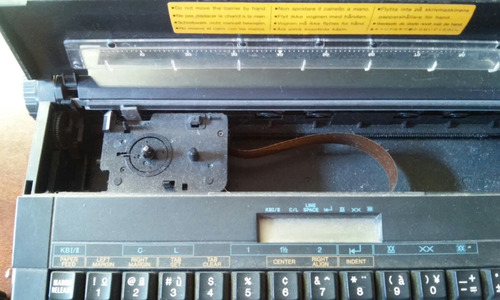 maquina de escribir electrica canon portatil usada