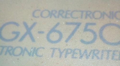 maquina de escribir electrica marca brother modelo gx-6750