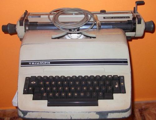 máquina de escribir eléctrica triumph - antigua de colección