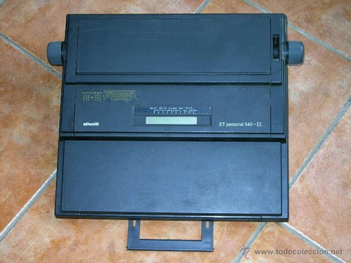 maquina de escribir olivetti et personal 540-ii.