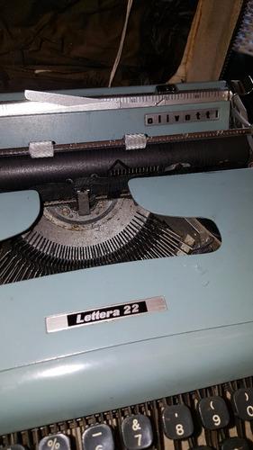 maquina de escribir portátil olivetti lettera 22