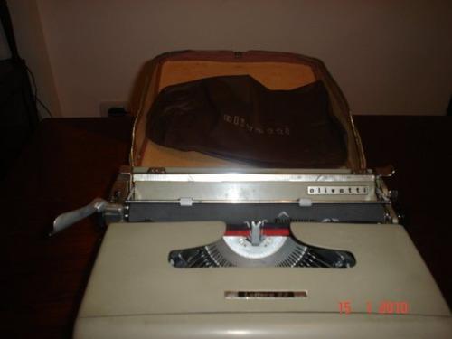 maquina de escribir portatil olivetti lettera 22