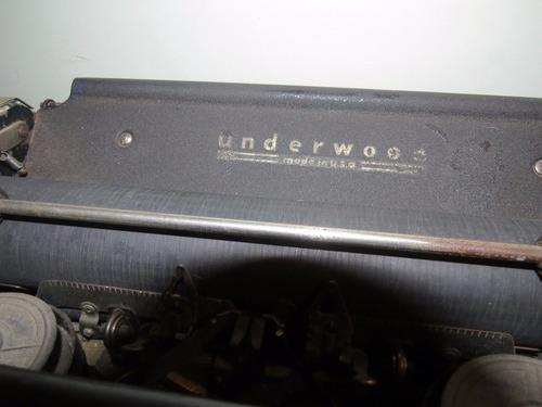 maquina de escribir underwood. made in usa