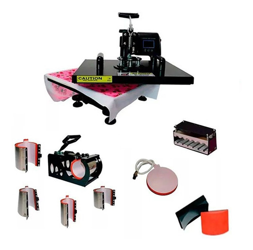 maquina de estampar camisetas caneca 10 em 1 prensa termica