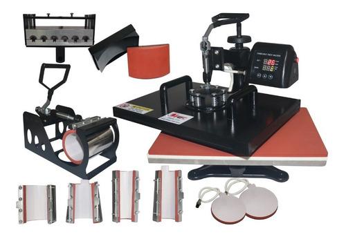 maquina de estampar camisetas caneca 10em1 prensa termica 32x45 camiseta caneca copo prato chinelo bone caneta