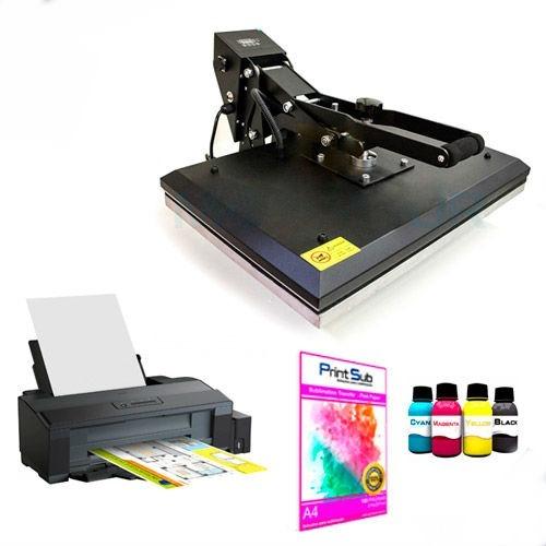 e64366cd45ea4 Máquina De Estampar Camisetas + Impressora + Tinta - R  6.300