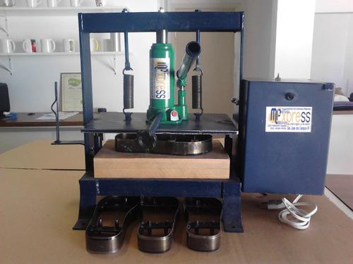 maquina de fazer chinelo 12 facas  fresa c.tiras fret grátis