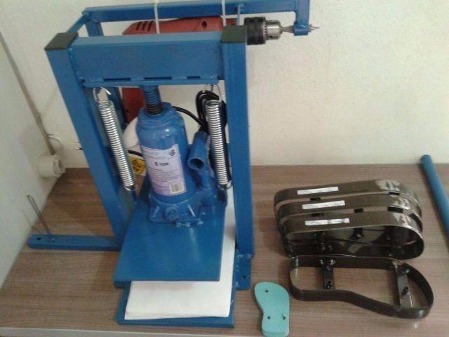 e7a63a4b4 Maquina De Fazer Chinelo Completa 11 Faca A Mais Completa - R$ 995 ...