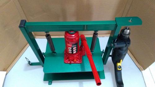 maquina de fazer chinelo completa com 10 pares de facas