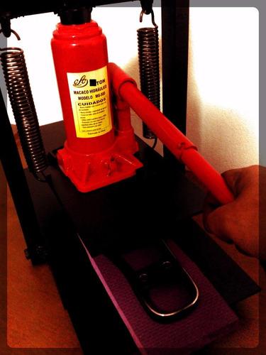 maquina de fazer chinelo completa com 5 facas frete gratis