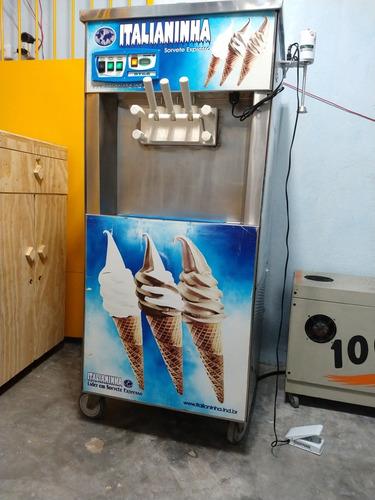 máquina de fazer sorvete italianinha 43 litros